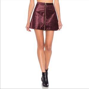 """NWOT """"Funky Town"""" Velvet A-Line Mini Skirt"""